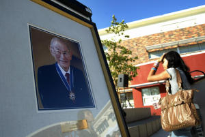 A photo of civil rights icon Fred T. Korematsu is shown Sept. 24, 2010. (Anda Chu/Staff)