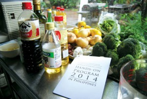 Ingredients that will be used for the class