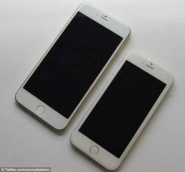 An image last week, also leaked by Sonny Dickson, revealed the two new iPhone 6 models side-by-side