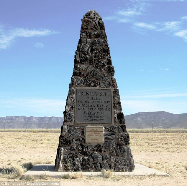 The Trinity Site, where the world's first atomic bomb was detonated in July 1945, which is close to the source of the unexplained plume on the White Sands Missile Range