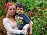 Outraged: Selina Johnson, with her son Max, aged four, posted about the encounter on Facebook