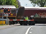 Level crossing: The scene where two people died after being hit by a train in Cherry Willingham, Lincolnshire