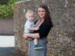 Rebecca Hough, pictured with her son was told by the swimming pool manager to stop breast feeding her son