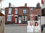 PIC BY MIKE JONES / CATERS NEWS - (PICTURED: Lawrence Poxton, 48,and his wife Teresa, 46s house (no 21) - Quids in! A couple have moved into Britains cheapest home - which set them back just a POUND - but could now fetch up to £70,000. Lawrence Poxton, 48, and his wife Teresa, 46, have moved into the terraced property in Stoke-on-Trent, Staffs, after the council put 33 properties on the market for a quid in a desperate attempt to clean up the area. The bus driver and his wife were picked from thousands of applicants to be the first couple to move into the houses - which they now estimate could be sold for between £60 - 70,000. The couple first applied to get the keys to one of only 33 houses available for £1 in Stoke-on-Trent, Staffs, in March 2013. After being selected from thousands of applicants, the lucky couple blindly picked their new terraced treasure out of a model house in November. SEE CATERS COPY.